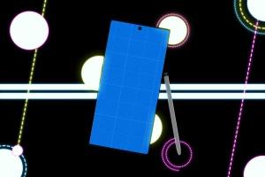酷黑背景三星智能手机Note 10多角度屏幕预览样机模板 Neon Note 10 MockUp插图8