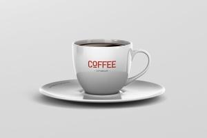 逼真咖啡杯马克杯样机模板 Coffee Cup Mockup插图1