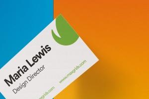 企业名片设计侧立效果图样机模板v2 Business Card Mockup 02插图3