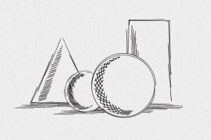 铅笔素描数码绘画AI笔刷 Vector Pencil Sketch Brushes插图(4)