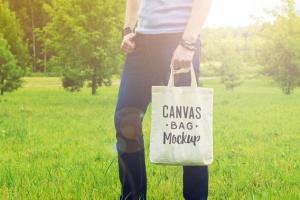 帆布手提袋样机模板 Canvas Bag Mockup插图7