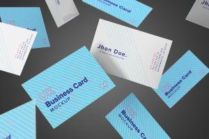 英国尺寸规格企业名片设计预览样机10 UK Business Cards Mockup 10插图3