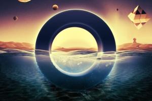 炫酷3D立体水面漂浮文字样式PSD分层模板 Underwater Text Logo Effect插图3