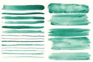 94种水彩艺术图案AI笔刷 Watercolor Vector Art Brushes插图6