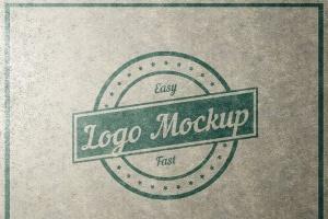 平面logo木板背景纹理样机 Logo Flat Mockup插图8