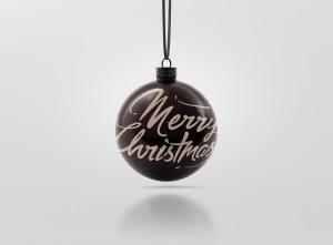 闪闪发光圣诞装饰球样机模板 Glitter Christmas Ball Mockup插图12