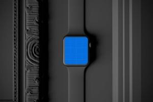 时尚深色Apple智能手表样机模板 Dark Apple watch插图9