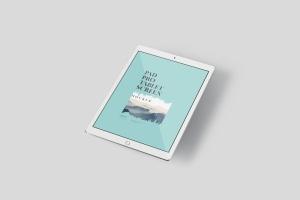 多角度iPad Pro屏幕演示样机PSD模板 Pad Pro Tablet Screen Mockup Set插图5
