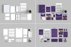 10个时尚高端办公品牌文具样机VI展示模型mockups插图1