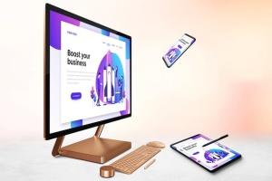 跨平台设计项目展示样机合集 Responsive Screens Mockup插图7