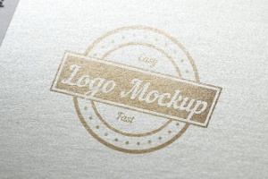 烫印烫金Logo样机模板 Logo Mock-Up插图6