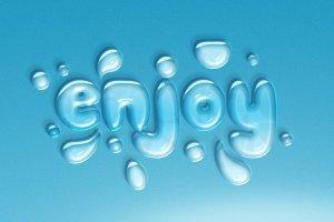 逼真水滴水纹效果PS字体样式 WATER TEXT EFFECT插图6