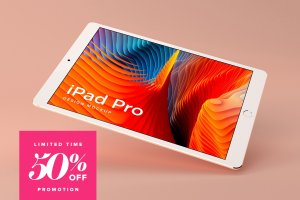 多角度的iPad Pro展示模型Mockup下载[psd]插图1