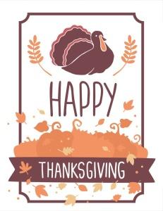 感恩节庆祝火鸡美食矢量设计素材 Happy Thanksgiving turkey插图3