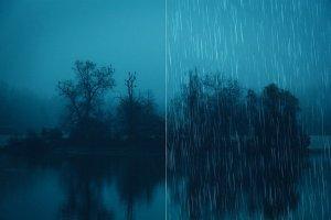 50款逼真雨天效果的PS笔刷 50 Rain Photoshop Brushes [abr]插图4