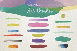 水彩数码绘画艺术大师AI画笔笔刷 Watercolor Illustrator Art Brushes插图(2)