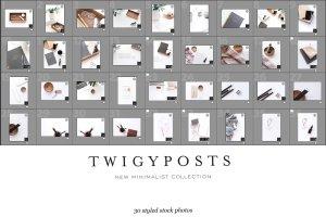 办公场景博客社交媒体贴图样机 NEW   Minimalist Stock Photo Bundle插图19