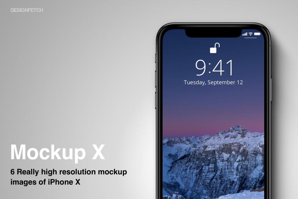 iPhone X设备UI设计展示样机模板 Mockups iPhone X插图