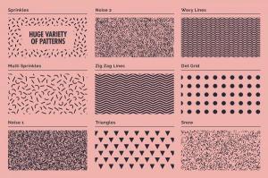 70年代转印凹模样板图案纹理套装 LITHOTONE: Distressed Pattern Swatches插图4