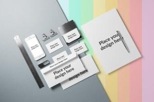 企业品牌VI设计办公文具样机模板v1 Branding / Identity Mock-up插图9