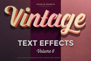 复古怀旧风格文本图层纹理v6 Vintage Text Effects Vol.6插图1