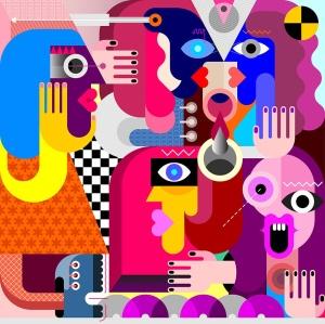 抽象人物手绘矢量插画素材 People插图2