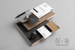 专业的时尚高端轻奢质感房地产品牌设计VI样机展示模型mockups插图8