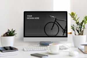 真实iMac一体机屏幕预览样机模板 Desktop Mockup插图2