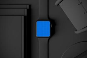 时尚深色Apple智能手表样机模板 Dark Apple watch插图12