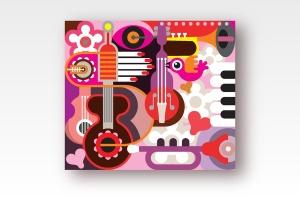音乐主题矢量抽象背景素材 Abstract Musical Background插图2