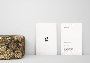 竖版设计企业名片正背面效果图样机 Vertical Business Card Mockup – Front & Back插图1