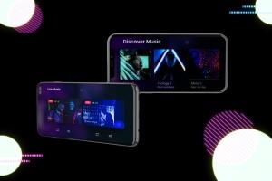 高质量霓虹灯风格iOS/Android手机样机模板 Neon IOS & Android插图6