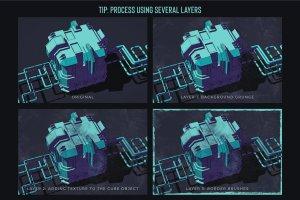 素描卡通3D渲染笔刷 Grunge Toolbox Procreate Brushes插图3