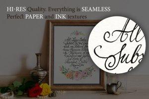 52款纸张&墨水PS样式图层 52 Paper&Ink Photoshop Styles插图2