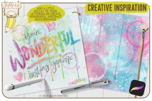 创意Procreate专用画笔素材-水彩戒指和滴水印章插图3