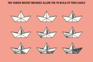 雕刻画设计AI笔刷下载 The Master Engraver – Brushes插图(3)
