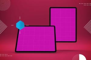 iPad Pro平板电脑UI设计屏幕预览效果图样机 Abstract iPad Pro Mockup插图14