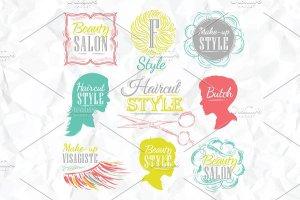 美容美发复古风格素材 Beauty salon插图3