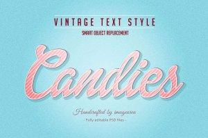 复古条纹风格文本图层样式 Vintage / Retro Text Styles插图10