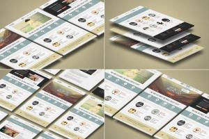 3D立体图网站UI设计效果图样机 3d Website Display Mockup插图1