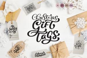 圣诞节礼物标签矢量设计图形素材 Christmas Gift Tags插图1