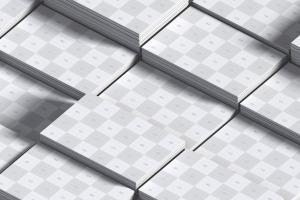 UK标准规格企业&工作室名片排版设计效果图样机01 UK Business Cards Mockup 01插图4