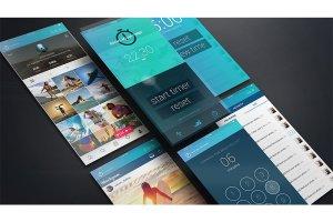 现代独特iPhone X浮动特效 UI设计展示PSD模型Mockups插图12