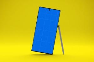 三星大屏手机Note 10屏幕预览样机模板 Note 10 Mockup插图9