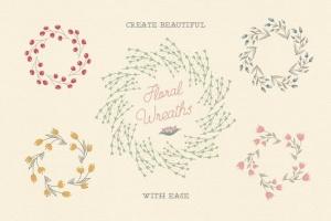 花卉元素图案AI笔刷 Floral Pattern Brushes For Illustrator插图2