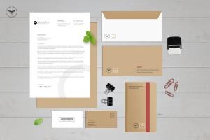 企业办公用品套装等距样机模板 Stationary Kit Mockups插图1