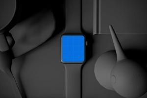 时尚深色Apple智能手表样机模板 Dark Apple watch插图13