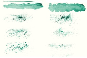 94种水彩艺术图案AI笔刷 Watercolor Vector Art Brushes插图7