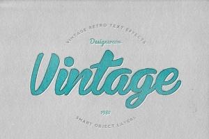 14个复古风格立体特效PS字体样式 14 Vintage Retro Text Effects插图12