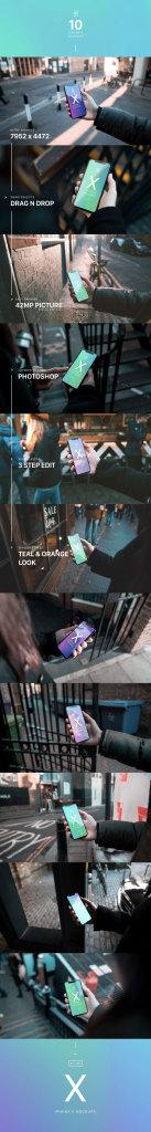 一流设计素材网下午茶:超有品质感且文艺的iPhone X界面UI设计展示模型(Mockups)下载[PSD,2GB]插图